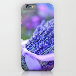 Lavender Bouquet in Springtime iPhone Case
