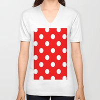 dots V-neck T-shirts featuring Dots by Ace of Spades