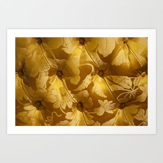 Gold cushion Art Print