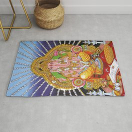 hindu god Ganesha ganesh tapestry wall hanging decor art Rug