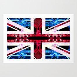 circuit board United Kingdom (flag) Art Print