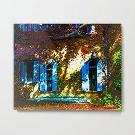 Secret Garden Castle Windows Metal Print