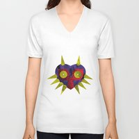 majora V-neck T-shirts featuring Majora by Bradley Bailey