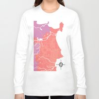 michigan Long Sleeve T-shirts featuring Marquette, Michigan by Leigh DiFulvio