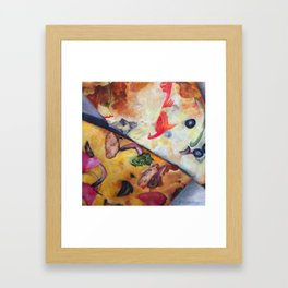 Pizza Lovemaking (LARGER SIZES) Framed Art Print