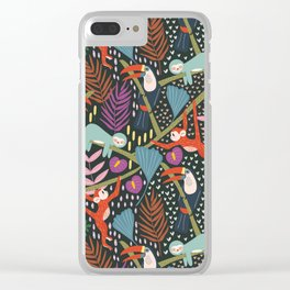 In the Jungle Clear iPhone Case