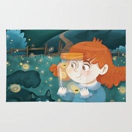 Giadina and the fireflies Rug
