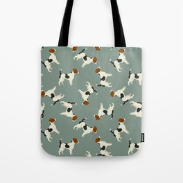 Jack Russell Green Bay Tote Bag