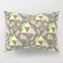 Garden of Power, Wisdom, and Courage Pattern in Grey Pillow Sham