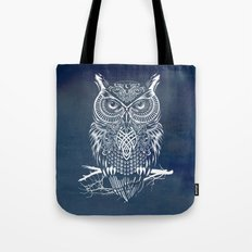 Warrior Owl Night Tote Bag