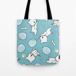 Hungry Westie Puppy Tote Bag