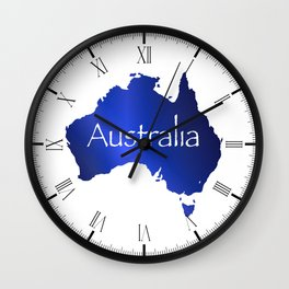 Australia Map Wall Clock