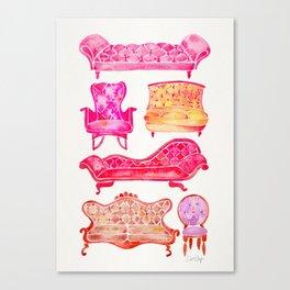 Victorian Lounge – Pink Palette Canvas Print