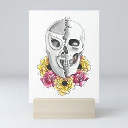 El Santo with Memorial Flowers Mini Art Print