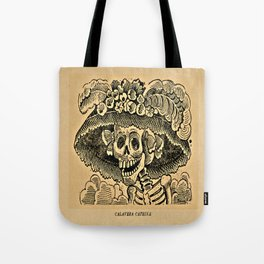La Calavera Catrina - Dapper Skeleton, zinc etching Tote Bag