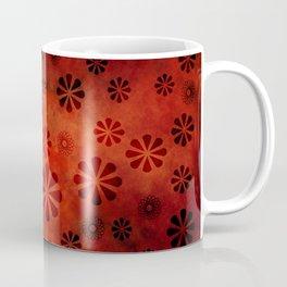 Burnt Orange Flowers Pattern Coffee Mug