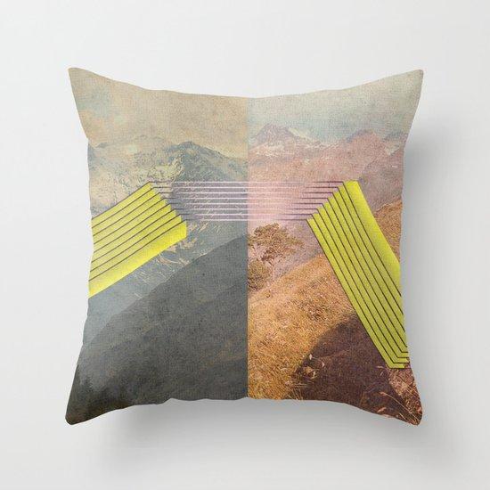 RAIN BOW MOUNTAINS Throw Pillow