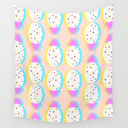 Pastel pineapples Wall Tapestry