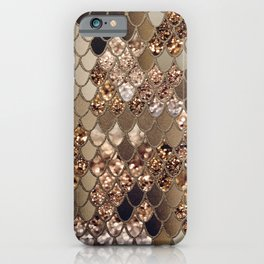 Mermaid Glitter Scales #6 #shiny #decor #art #society6 iPhone Case