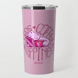 Skribbles: Words. Coffee. Happiness. Travel Mug