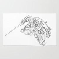 skyrim Area & Throw Rugs featuring Dragonborn (Skyrim) by  Steve Wade ( Swade)