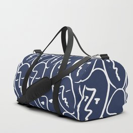 faces / navy Duffle Bag