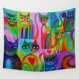 Pussies Galore  Wall Tapestry