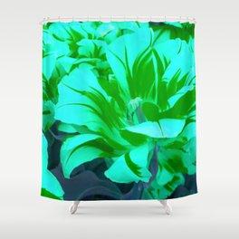 seafoam green tulips Shower Curtain