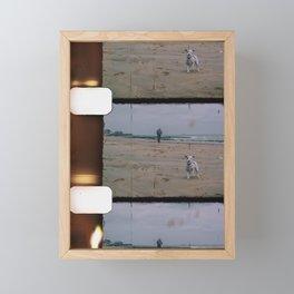 8mm vintage film strip Dog on the Beach in Broadstairs Framed Mini Art Print