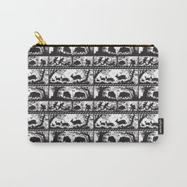Wild Deer and Boar German Silhouettes Carry-All Pouch