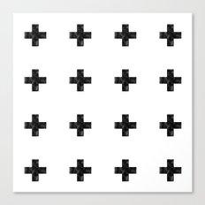 Watercolor Swiss Cross (White) Canvas Print
