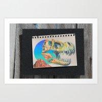 Jurassic Skull Art Print