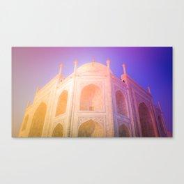 Morning Light Reflexion at Taj Mahal Canvas Print