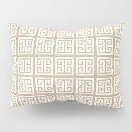 Tan Brown Greek Key Pattern Pillow Sham