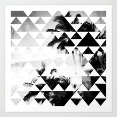Monochromatic Island Art Print