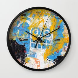 Blurring the Line Between Figuration and Abstraction Wall Clock