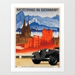 Vintage poster - Germany Art Print