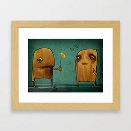 Wood He Love Me? Framed Art Print