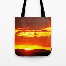 Sunset at Etosha NP, Namibia Tote Bag