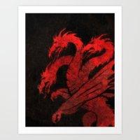 dragons Art Prints featuring Dragons by Narwen