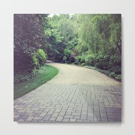 Gravel Path, Photography Metal Print