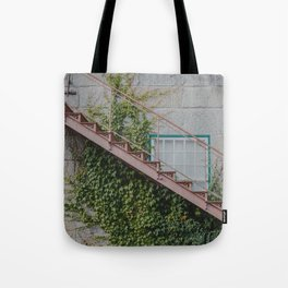 Stone House with Ivy Wall Tote Bag