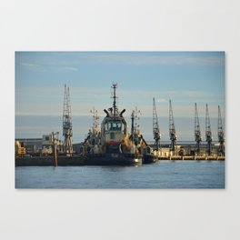 Tug Boat In The Evening Light Canvas Print