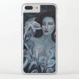 Blue Calla Clear iPhone Case