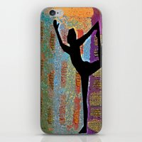 yoga iPhone & iPod Skins featuring Yoga by Vicki Lynn Rae