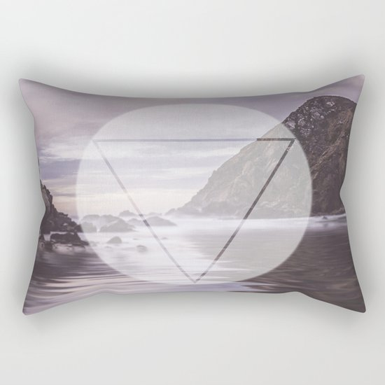 Calm Waters sacred geometry circle triangle Rectangular Pillow