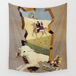 Visit Sardinia vintage Italian travel ad Wall Tapestry