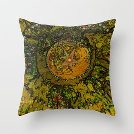 Abstract-Soul Of The Sun by  Sherri Of Palm Springs Throw Pillow