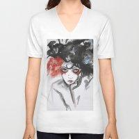 vendetta V-neck T-shirts featuring Vendetta by Valeri Prokopenko