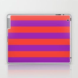 Even Horizontal Stripes, Red and Purple, L Laptop & iPad Skin